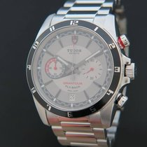 Tudor Steel Automatic Grey 42mm pre-owned Grantour Chrono Fly-Back