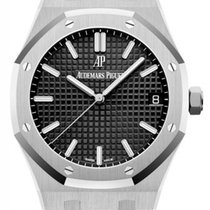 Audemars Piguet Royal Oak Steel 41mm Black No numerals United States of America, New York, New York