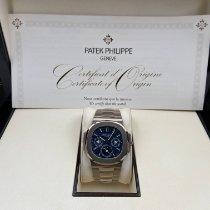 Patek Philippe Nautilus Белое золото 40mm Синий Без цифр