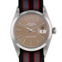 Rolex Oyster Perpetual Date Acier 34mm Brun Sans chiffres France, Paris
