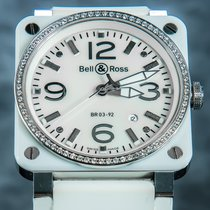 Bell & Ross BR 03-92 Ceramic Cerámica 42mm Madreperla Arábigos