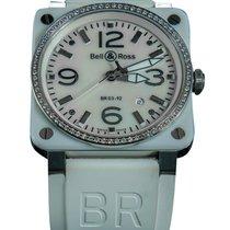 Bell & Ross BR 03-92 Ceramic BR0392-WH-C-D/SCA Bardzo dobry Ceramika 42mm Automatyczny