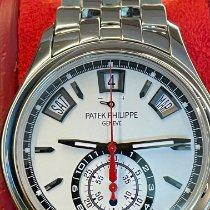 Patek Philippe Annual Calendar Chronograph Сталь 40.5mm Cеребро Без цифр