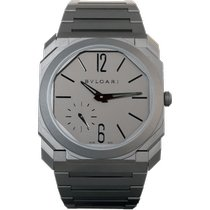 Bulgari Titanium Automatic Grey Arabic numerals 40mm new Octo