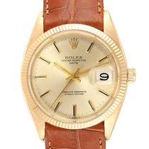 Rolex Oyster Perpetual Date Or jaune 34mm Champagne