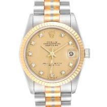 Rolex Datejust Oro blanco 31mm Champán