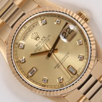 Rolex Day-Date 36 Oro amarillo 36mm Champán