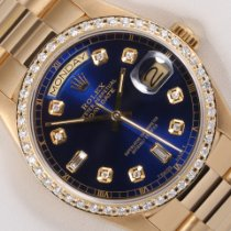 Rolex Day-Date 36 Oro amarillo 36mm Azul