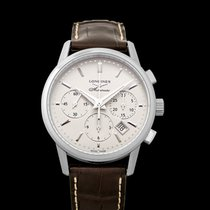 Longines Column-Wheel Chronograph Steel 40mm Silver United States of America, California, San Mateo