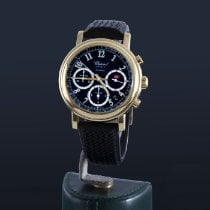 Chopard Yellow gold Automatic Black pre-owned Mille Miglia