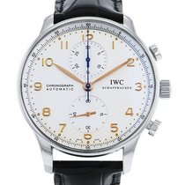 IWC Portuguese Chronograph Steel 41mm Champagne Arabic numerals