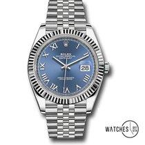 Rolex Datejust II Stahl 41mm Blau Römisch