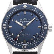 Blancpain Fifty Fathoms Bathyscaphe Stahl 38mm Blau Deutschland, Schwabach