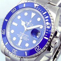 Rolex Submariner Date Weißgold 40mm Blau