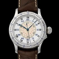 Longines Steel Automatic White 47.50mm new Lindbergh Hour Angle