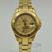 Rolex Yellow gold Automatic Champagne No numerals 29mm pre-owned Yacht-Master