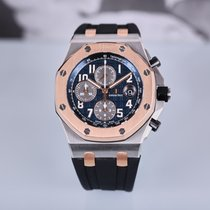 Audemars Piguet Royal Oak Offshore Chronograph Золото/Cталь 42mm Синий Aрабские