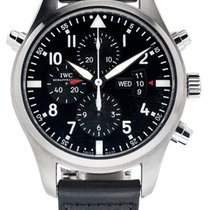 IWC Pilot Double Chronograph IW377801 Very good Steel 46mm Automatic