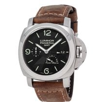 Panerai Luminor 1950 3 Days GMT Power Reserve Automatic Сталь 44mm Черный Aрабские