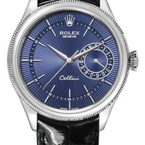 Rolex Cellini Date White gold 39mm Blue No numerals United States of America, New York, New York