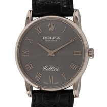 Rolex Cellini Witgoud 32mm Grijs Romeins