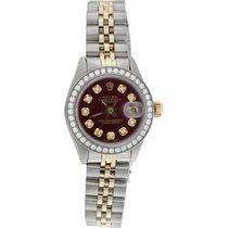 Rolex Lady-Datejust Stål 26mm Rød