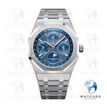 Audemars Piguet Royal Oak Perpetual Calendar Steel 41mm Blue No numerals United States of America, Florida, Jupiter