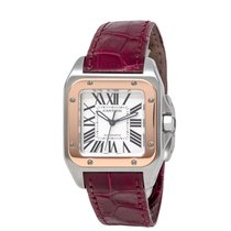 Cartier Santos 100 Steel 33mm Silver Roman numerals United States of America, New York, Hartsdale