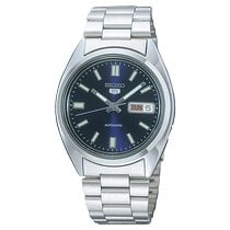 Seiko 5 Steel 37mm Blue No numerals