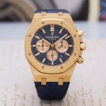 Audemars Piguet Royal Oak Chronograph Pозовое золото 41mm Синий Без цифр