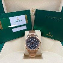 Rolex Sky-Dweller Or rose 42mm Sans chiffres