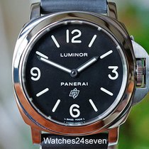 Panerai Luminor Base Logo gebraucht 44mm Schwarz Dornschließe