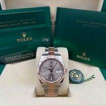 Rolex Datejust II Acero y oro 41mm Rosa Sin cifras