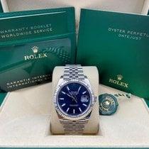 Rolex Datejust Steel 41mm Blue No numerals United States of America, New York, New York