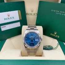 Rolex Datejust Steel 41mm Blue Roman numerals United States of America, New York, New York