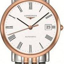 Longines Rose gold Automatic White 34.5mm new Elegant