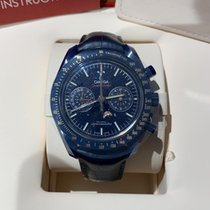 Omega Speedmaster Professional Moonwatch Moonphase Ceramic 44.25mm Blue No numerals