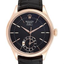 Rolex Cellini Dual Time Rose gold 39mm Black United States of America, Georgia, Atlanta