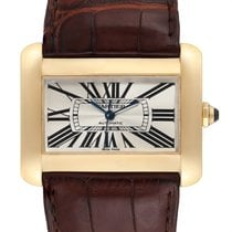 Cartier Tank Divan Yellow gold 38mm Silver Roman numerals United States of America, Georgia, Atlanta