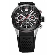 TAG Heuer Carrera Heuer-02T Steel 43mm Black No numerals