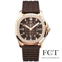 Patek Philippe Aquanaut Rose gold Brown Arabic numerals United States of America, New York, New York