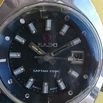 Rado HyperChrome Captain Cook pre-owned 28 con coronamm Black Date Equation of time Steel