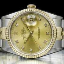Rolex Datejust 16233 Очень хорошее Золото/Cталь 36mm Автоподзавод