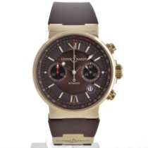 Ulysse Nardin Red gold Automatic Roman numerals 41mm pre-owned Marine Chronograph