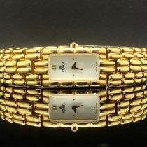 Fendi nuevo Cuarzo 14mm Acero y oro Cristal de zafiro