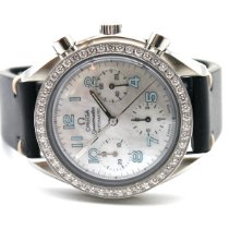 Omega Steel Automatic Mother of pearl Arabic numerals 38mm pre-owned Speedmaster Ladies Chronograph