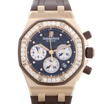 Audemars Piguet Roségold Automatik Braun 37mm gebraucht Royal Oak Offshore Lady