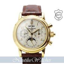 Patek Philippe Perpetual Calendar Chronograph Ouro amarelo Prata