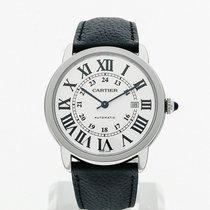 Cartier Ronde Croisière de Cartier Steel 42mm Silver Roman numerals