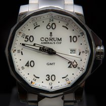 Corum Admiral's Cup GMT 44 Steel 44mm Silver Arabic numerals